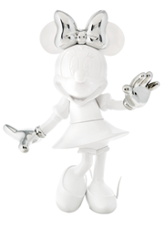 Minnie Welcome Glossy White & Chromed Silver by Leblon Delienne - Limited Edition Sculpture sized 22x24 inches. Available from Whitewall Galleries